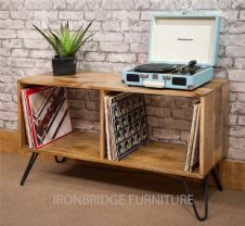 MANT-3005 2 HOLE LP CUBE - RECORD STORAGE ON HAIRPIN LEGS (various height available)